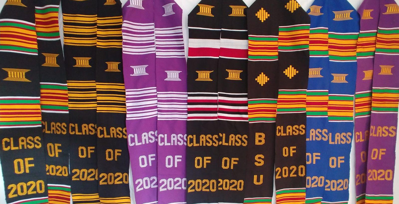 Graduation Kente Stole Class of 2020 African Graduation Sash Woven Kente Scarf